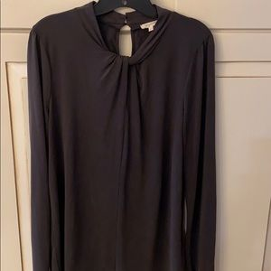 Gray long sleeve jersey tee